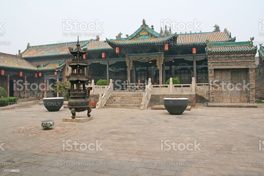 Historical house in Pingyao, China. stock photo