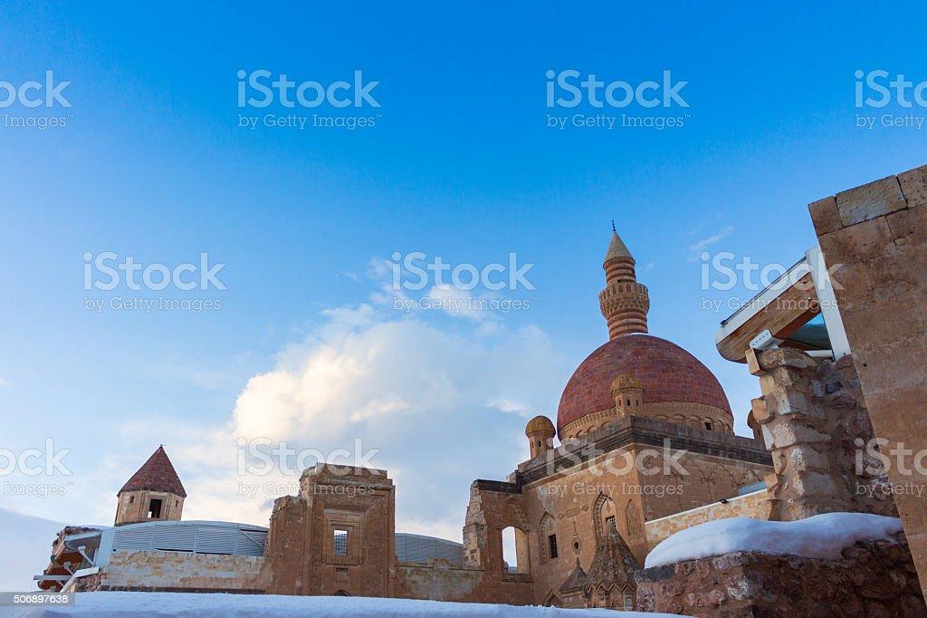 Historical Ishak Pasha Palace Dogubeyazit Turkey stock photo