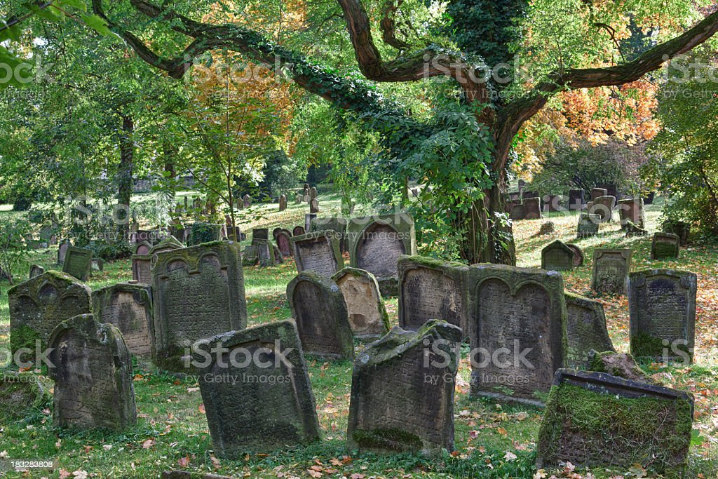 Historical jewish cemetery in city of Worms, Germany royalty-free stock photo