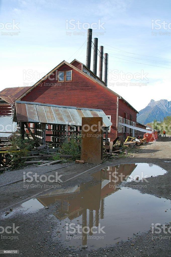 Historical Kennecott Copper Mine Site,Kennicott,Alaska,USA royalty-free stock photo