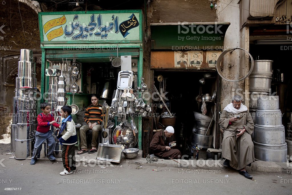 Historical Khan El Halil Bazaar royalty-free stock photo