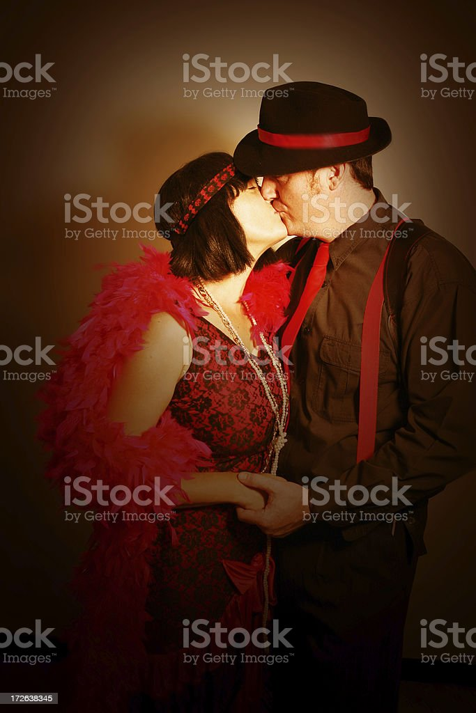 Historical Kiss royalty-free stock photo