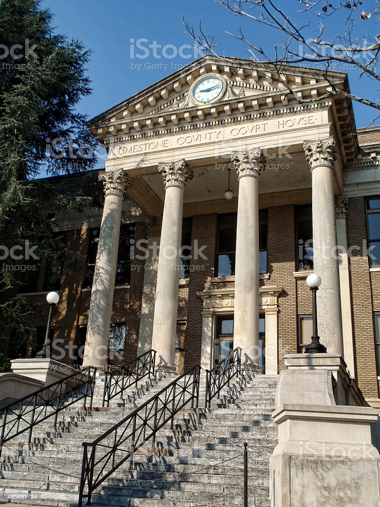 Historical Limestone County Courthouse stock photo