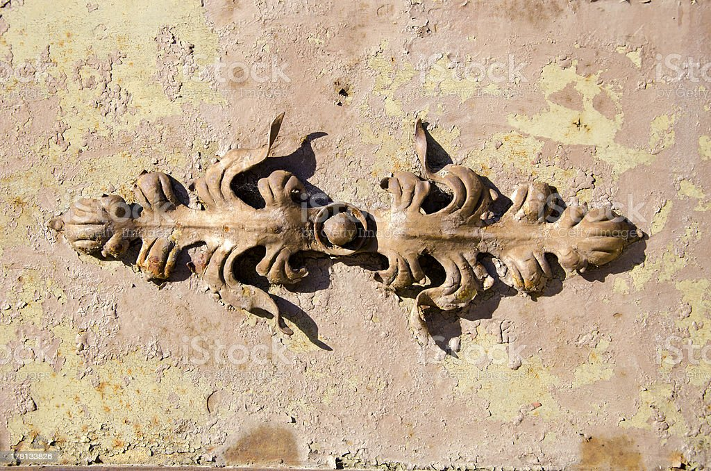 historical metal gate ornament royalty-free stock photo