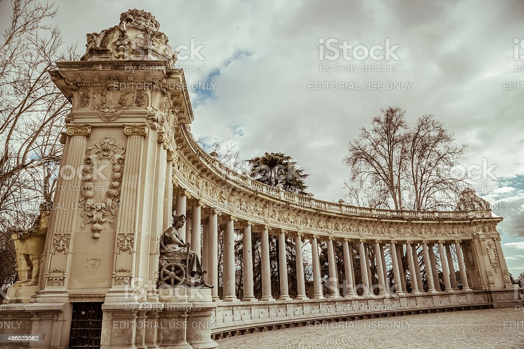 Historical monument in Madrid stock photo