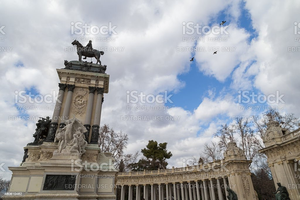 Historical monument of Madrid stock photo