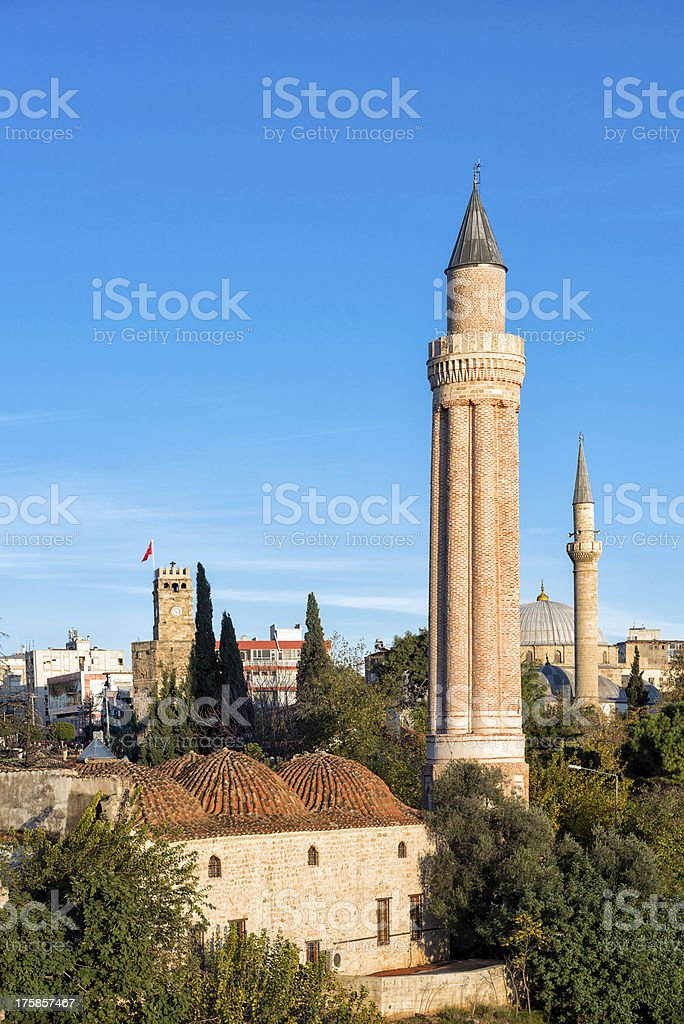 Historical Mosque in Antalya royalty-free stock photo