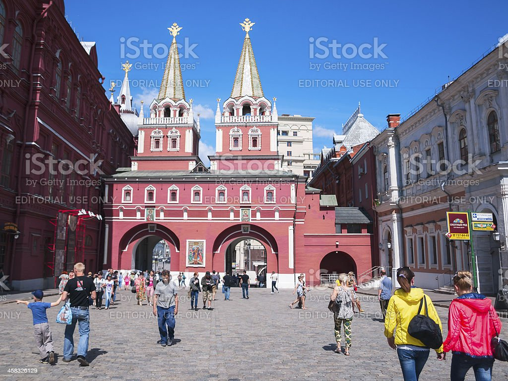 Historical Museum on the Red Square, Moscow, Russia stock photo
