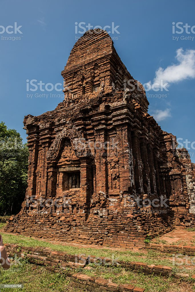 Historical My Son Temple stock photo