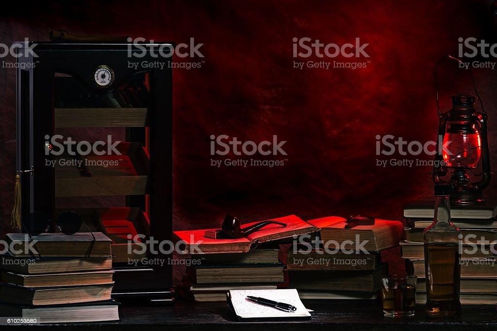 Historical office desk stock photo