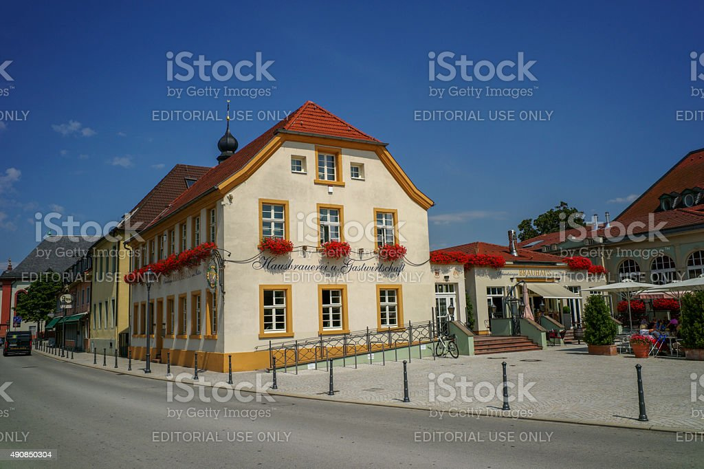 historical old buildings are located at center of speyer germany stock photo
