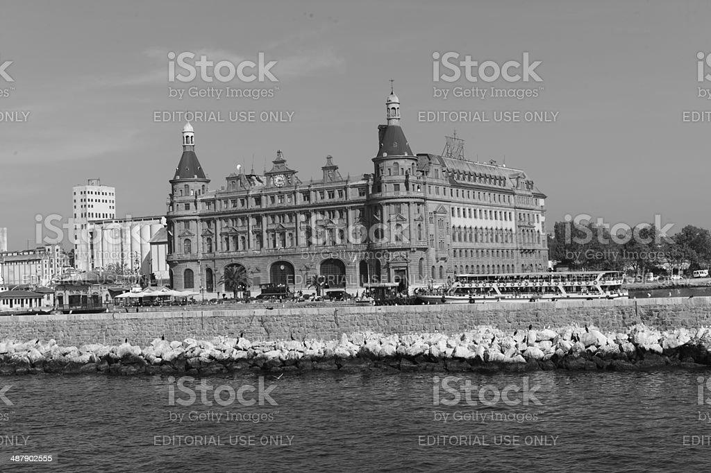 historical old haydarpasa train station at istanbul turkey royalty-free stock photo