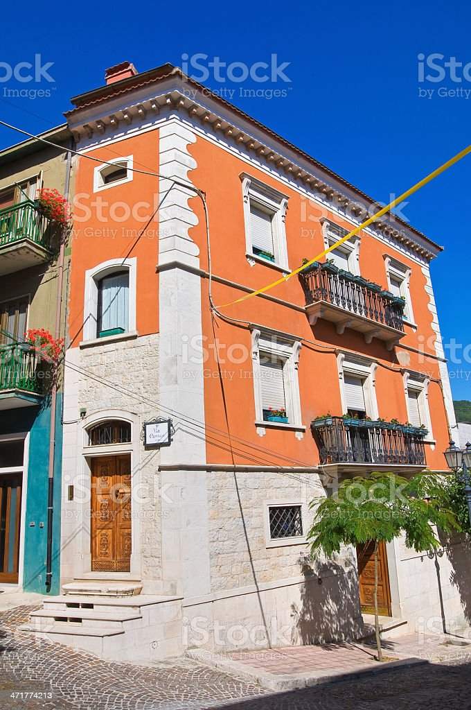 Historical palace. Alberona. Puglia. Italy. royalty-free stock photo