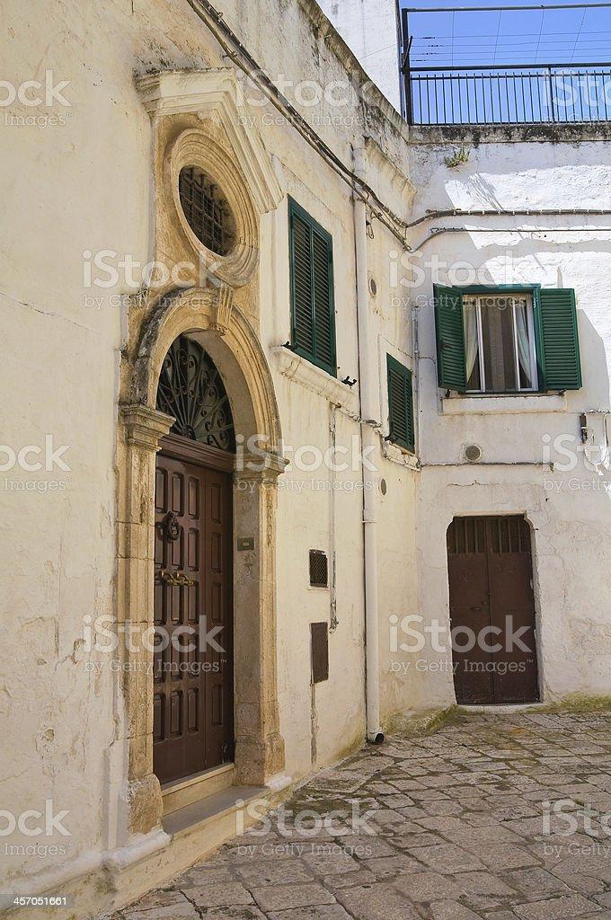 Historical palace. Ceglie Messapica. Puglia. Italy. stock photo