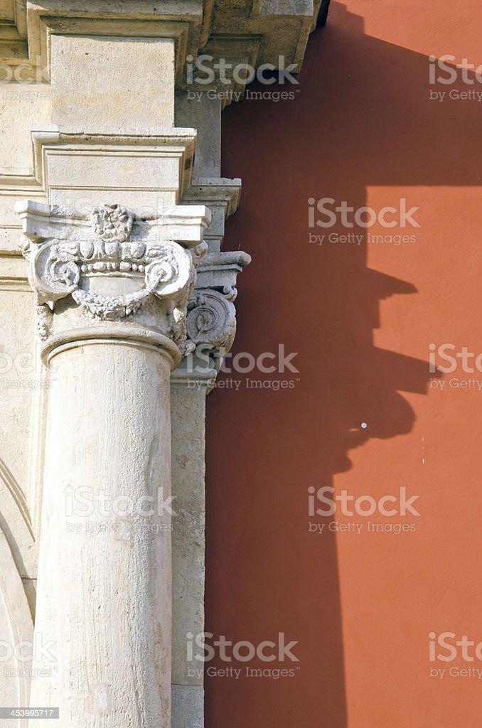 historical palace column detail royalty-free stock photo