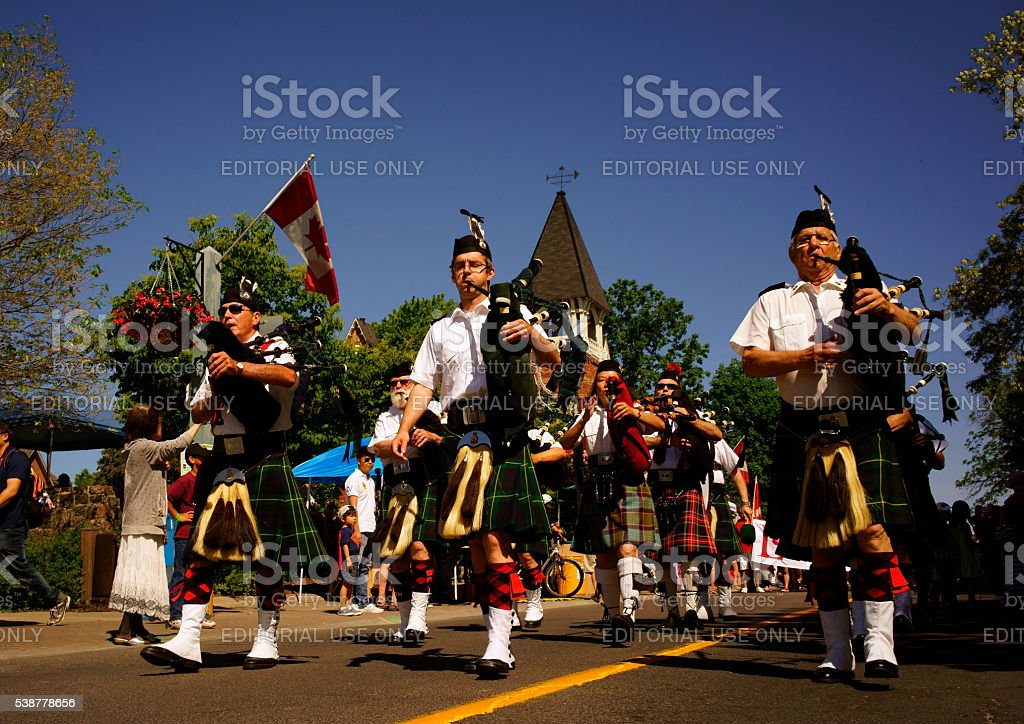 Historical parade in Toronto, Canada stock photo