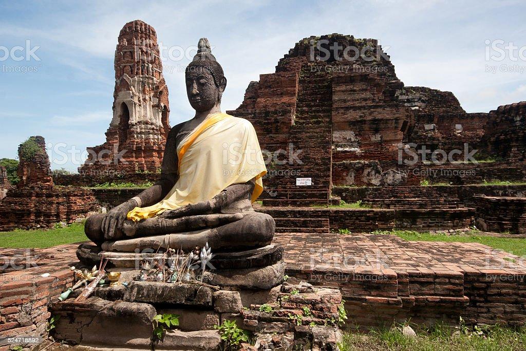 Historical Park of Ayutthaya, Phra Nakhon Si Ayutthaya, Thailand stock photo