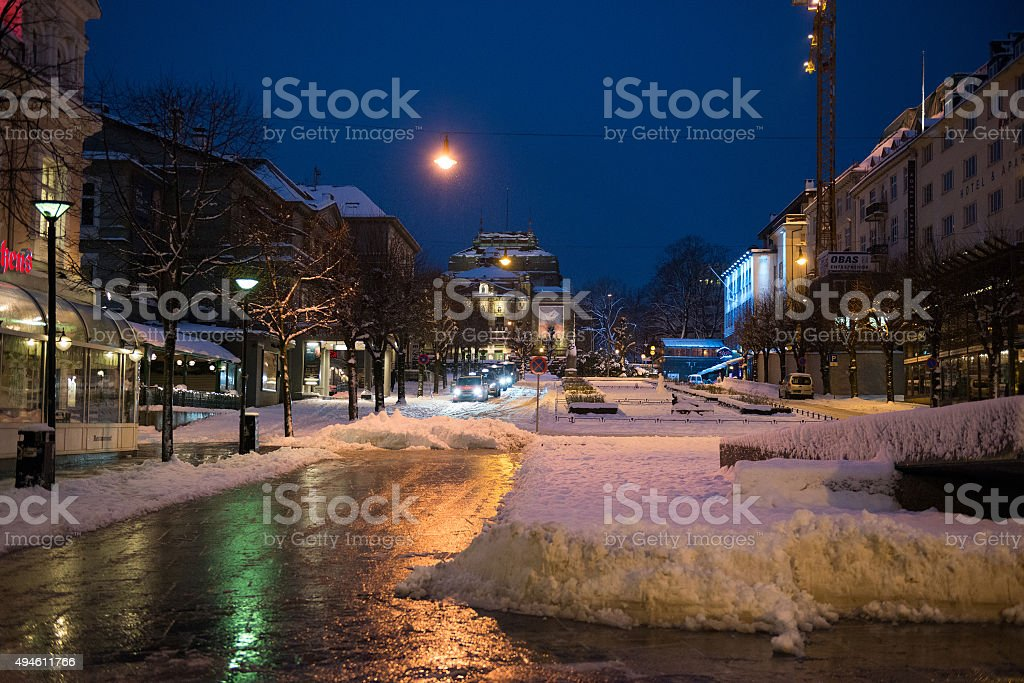 historical part of Bergen stock photo