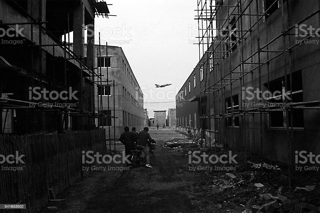Historical photos China Jianqiao Air base fc1, Hangzhou City stock photo