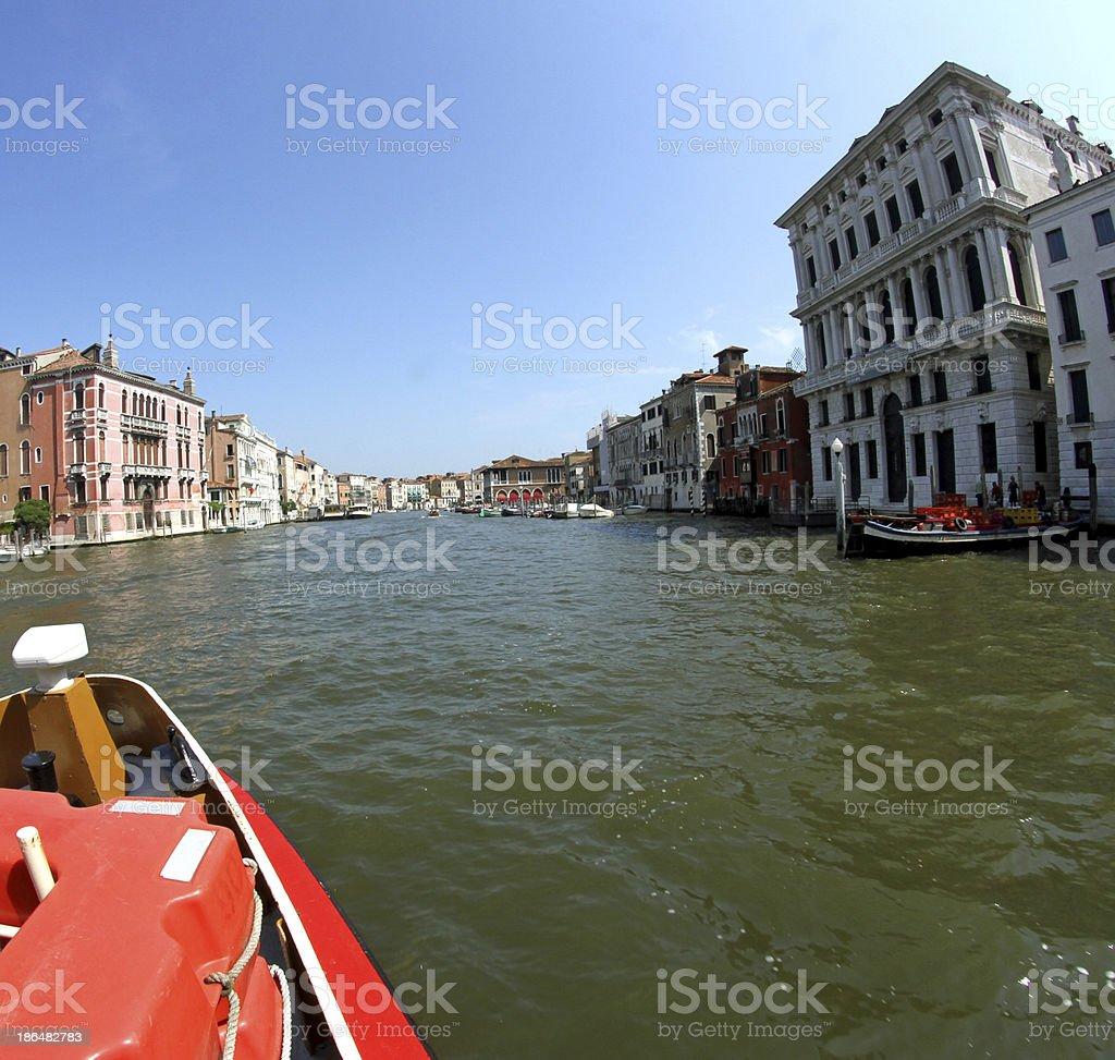 historical prestigious palaces  of Venice royalty-free stock photo
