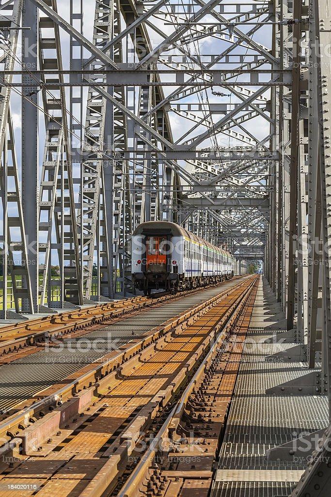 Historical railway bridge in Tczew, Poland royalty-free stock photo