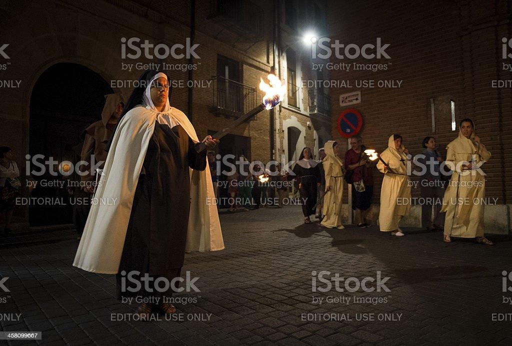 Historical reenactment in Spain stock photo