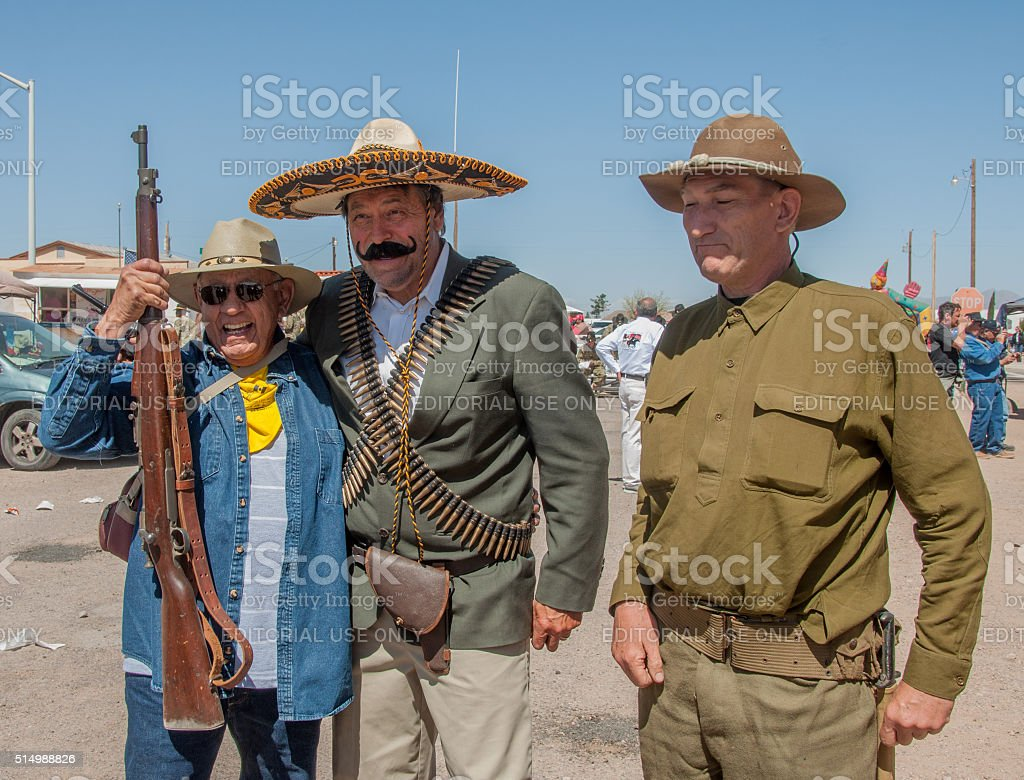 Historical Reenactment of Pancho Villa Invasion of New Mexico stock photo