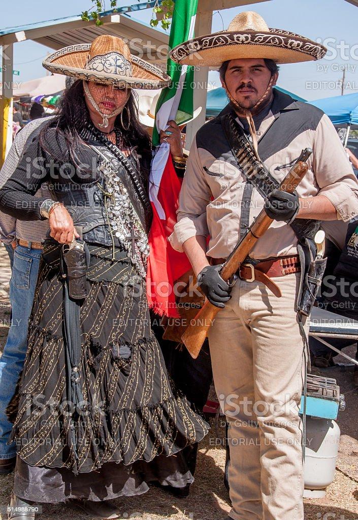 Historical Reenactment of Pancho Villa Raid in New Mexico stock photo