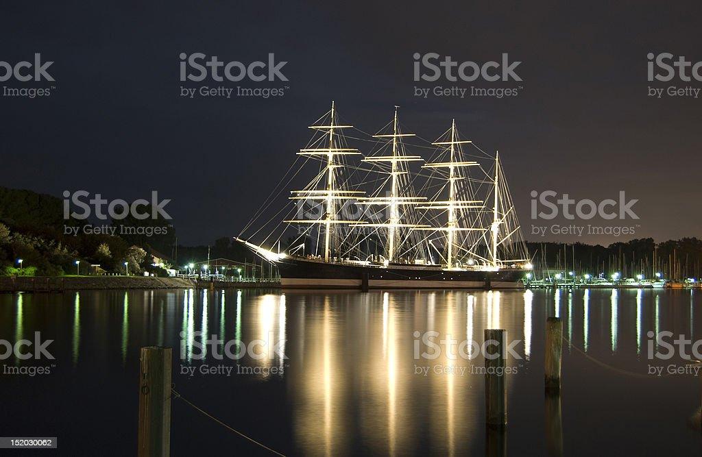 historical sailing ship stock photo