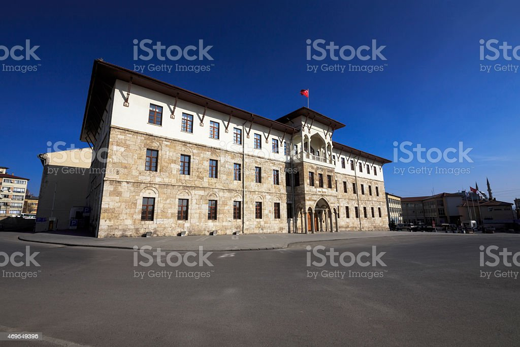 Historical Sivas Government House stock photo