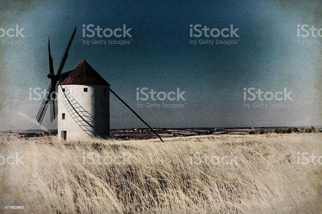 Historical Spanish windmill royalty-free stock photo