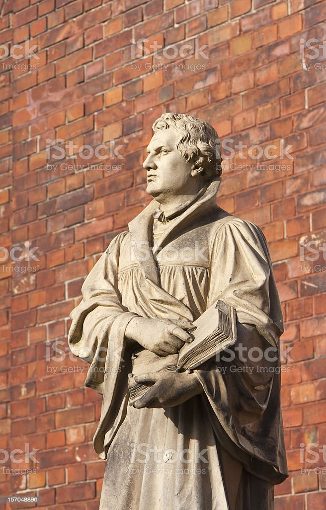 Historical Statue of Martin Luther stock photo