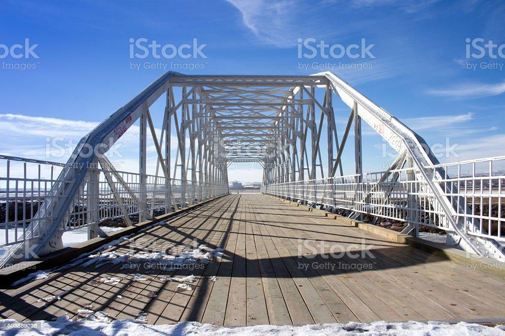Historical Steel Bridge stock photo