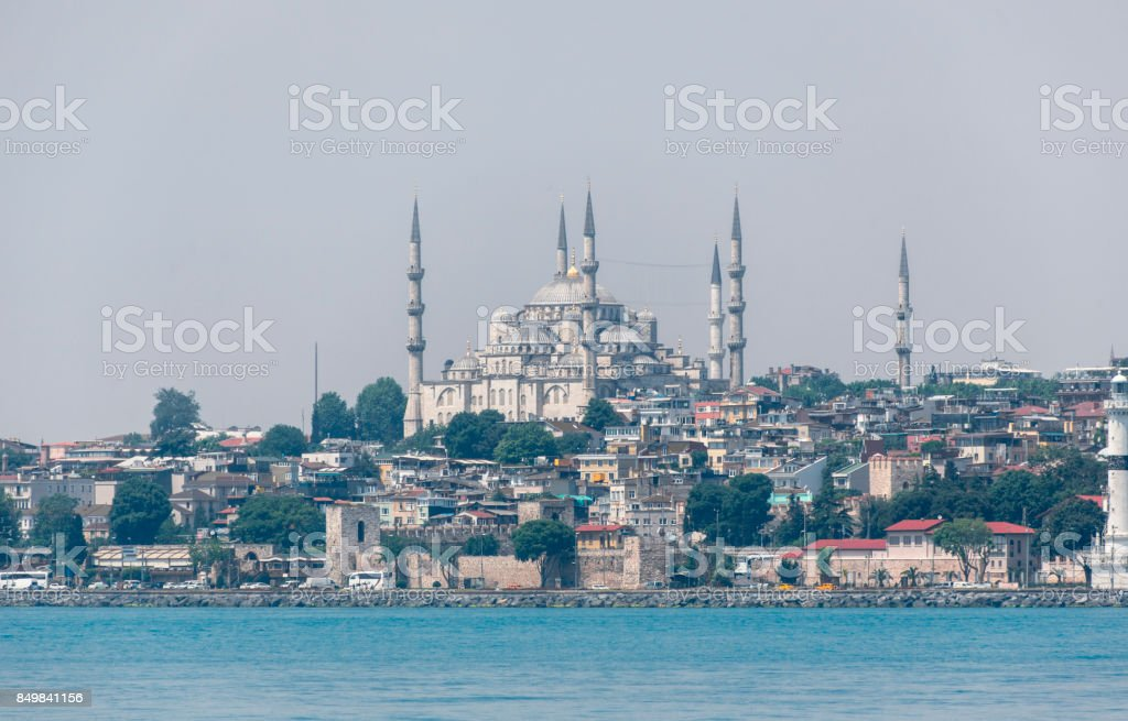 historical sultanahmet blue mosque monument by bosphorus in istanbul turkey stock photo