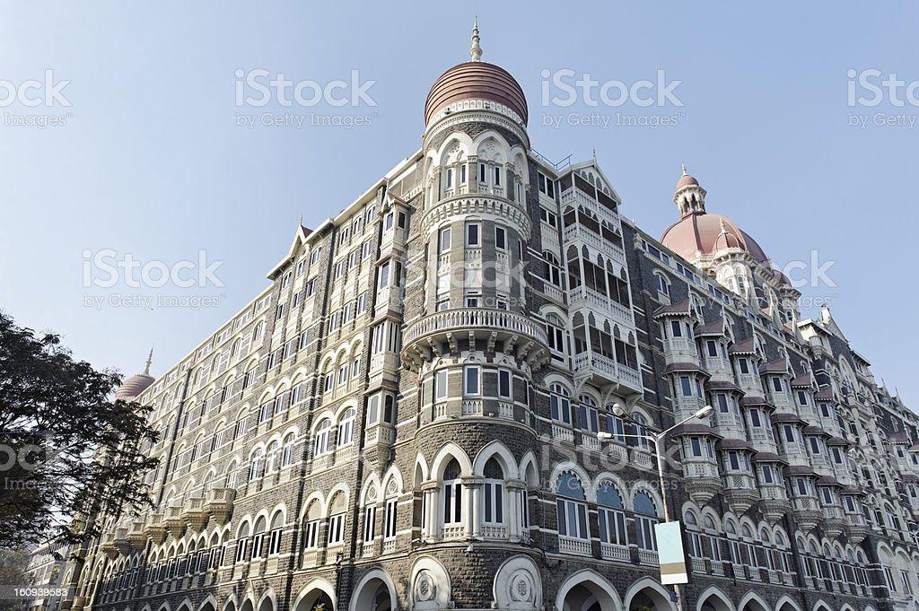 Historical Taj Mahal hotel in Mumbai, India royalty-free stock photo