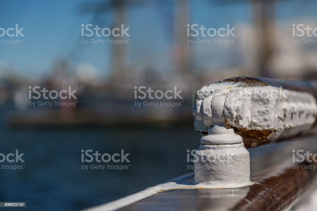 Historical Tall Ship Detail stock photo