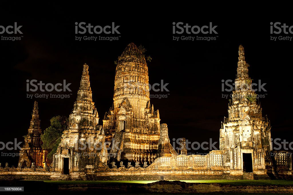 Historical Temple in Thailand, Cultural World Heritage royalty-free stock photo
