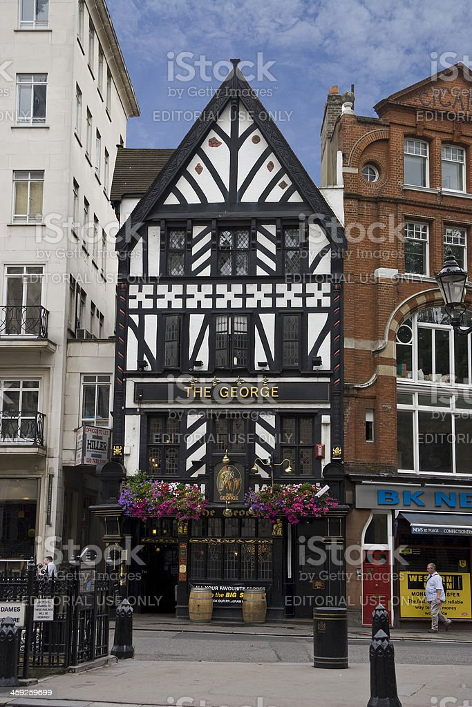 Historical The George Pub in London stock photo