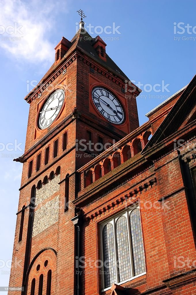historical tower with clock in Brighton, England royalty-free stock photo