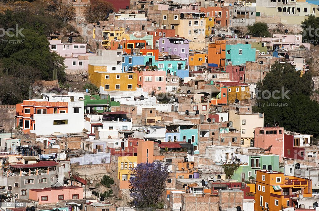 Historical town of Guanajuato (Mexico) stock photo