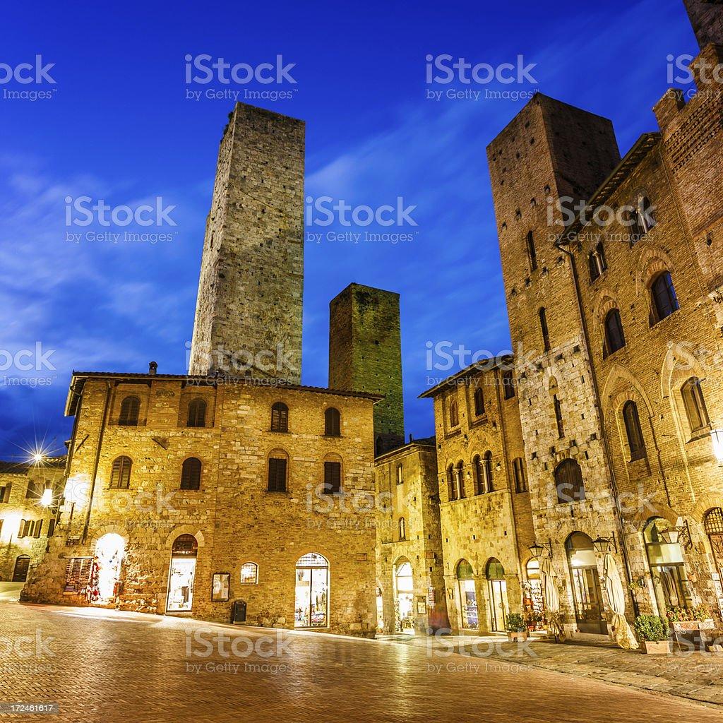Historical town San Gimignano , Siena, Tuscany, Italy royalty-free stock photo