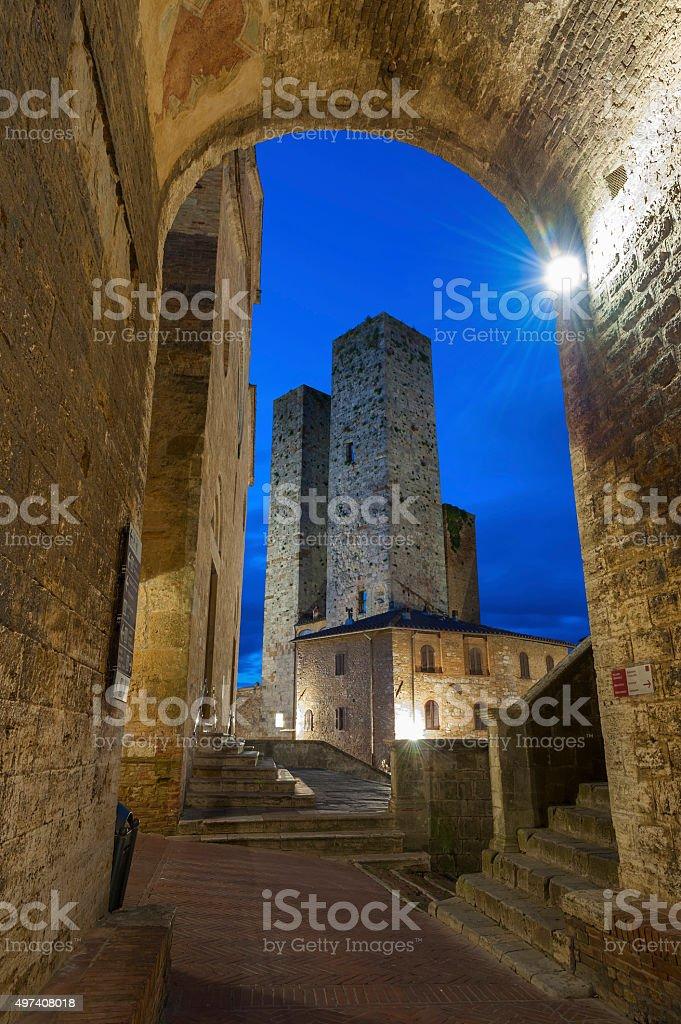 Historical town San Gimignano,Tuscany, Italy, stock photo