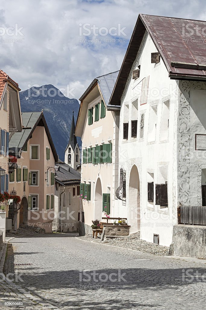 Historical village Guarda stock photo