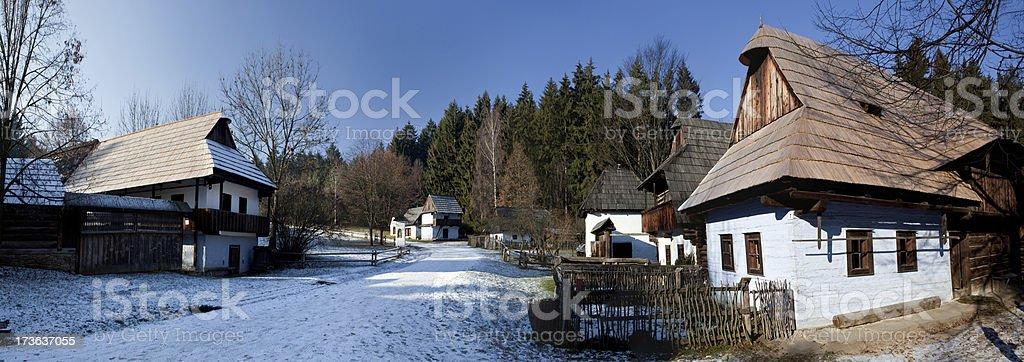 Historical village royalty-free stock photo
