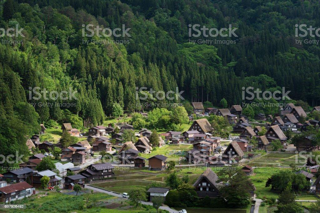 Historical village Shirakawa-go in Japan stock photo