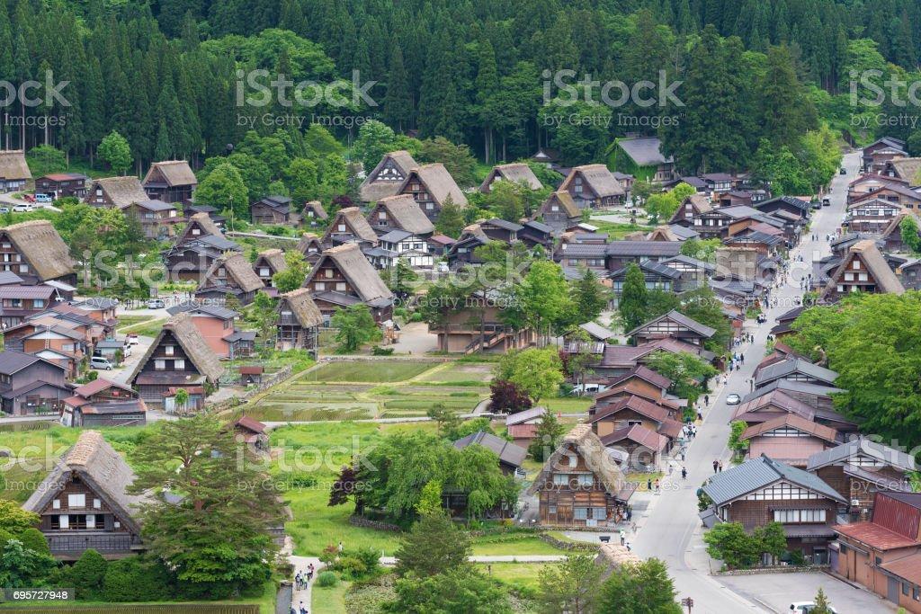 Historical village Shirakawa-go, Japan stock photo