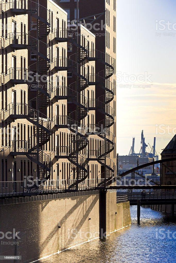 Historical Warehouse District, Speicherstadt, Hamburg royalty-free stock photo