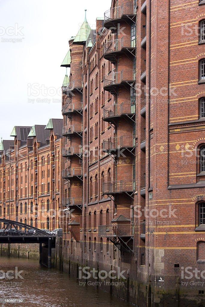 Historical Warehouse District, Speicherstadt, Hamburg stock photo