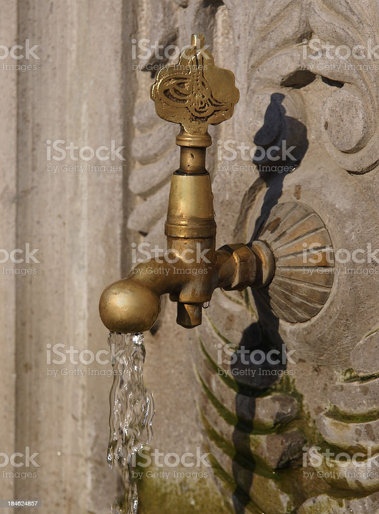historical water tap royalty-free stock photo