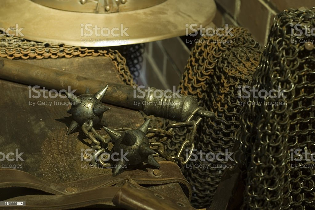 Historical weapons and armour stock photo